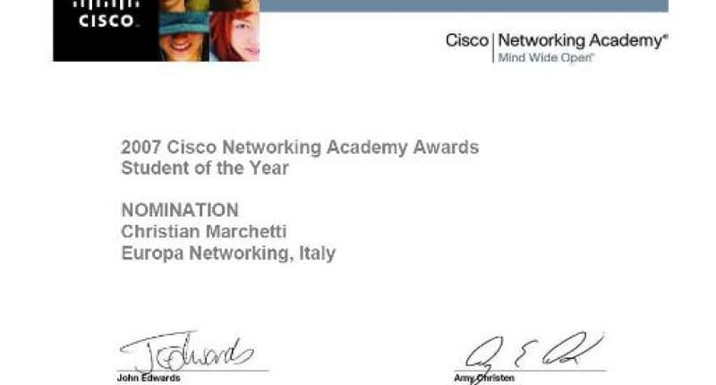 Cisco Networking Academy Awards 2007